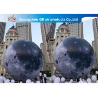 China Custom 5m Inflatable Lighting Decoration Lighted Moon Ball For Outdoor on sale