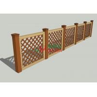 China Garden Deck Railing Wood Plastic Composite Fence 1.1m X 1.32m Barefoot Friendly on sale