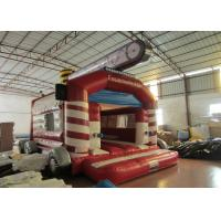 Buy Firetruck Commercial Bounce House Quadruple Stitching  , Inflatable Jumping Castle 5 X 6m at wholesale prices