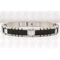 Quality Fashion Stainless Steel Bracelets With PVD IP Black Accents for sale