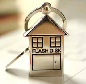 Quality Kongst metal keychain house usb flash drive/metal usb thumb drive for sale