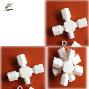 Quality Teflon PTFE  Four-way connector for sale