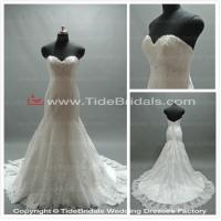 Quality white/Ivory Lace wedding dress bridal gown #CO316 for sale
