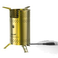 Buy cheap wood stove camping stove with USB blower fanned blower biomass stove pellet from wholesalers