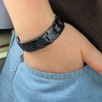 Buy cheap Hot Selling Black Titanium Wide Magnetic Wrist Band in Mexico Marketing from wholesalers