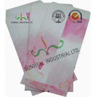 Quality Normal Finising Ordinary Paper Custom Printed Envelopes 4 Colors Peach Flowers for sale