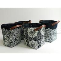 Quality Artistic Laundry Basket Leather Pu Materials Handwork for sale