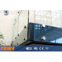 Quality building framless glass railings with stainless steel standoff bracket for sale