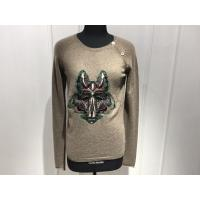 Quality Computer Cable Knitted Womens Cashmere Sweaters Embroidered Fox Head Logo for sale