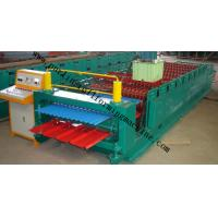 Quality Corrugated Double Layer Roll Forming Machine , Wave Galvanized Roof Sheet Cold Roll Former for sale