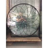 Quality The circular decorative bevel door glass with patina caming and glue chip beveled for sale