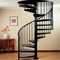 Buy cheap indoor / outdoor powder coated black metal spiral staircase price / prefab from wholesalers