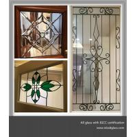 Quality Colorful decorative leaded glass for windows and doors made in China for sale