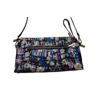 China Stylish Long Slender Shoulder Strap Handbags With Concave Flower Pattern on sale