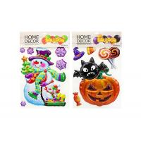 Quality Pumpkin Kids Sticker Printing , Custom Embossed Stickers Home Decoration for sale