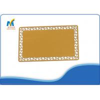 Quality Golden DIY Sublimation Blank Aluminum Business Cards 75 * 43 Mm Printing Size for sale