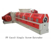Quality PP Caco3 Single Screw Extruder Making Machine Water Ring Pelletizing System for sale