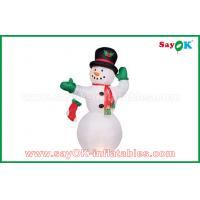 Quality Durable White Inflatable Snowman For Party / Holiday Decorations for sale