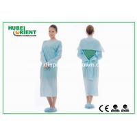 Protective & Waterproof Disposable Lab Coats CPE Gown with Thumb Loop for sale