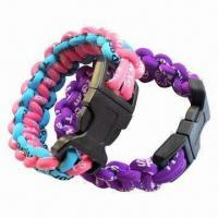 Quality Bracelets and Wristbands, Made by Silicone, Cotton, OEM, ODM Orders Welcomed for sale