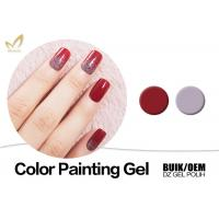 Quality Organic UV Gel Nail Gel Paint , No Fade 3d Gel Paint Chemical Free for sale