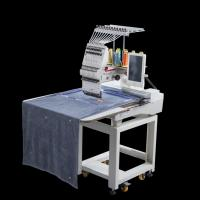 Quality Cap / Flat / Garment Computer Embroidery Machine All Servo Motor Long Life Time for sale