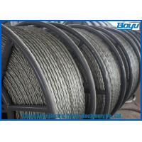 China Anti Twisted Steel Pilot Wire Rope Six Squares 12 Strands Transmission Line Stringing on sale