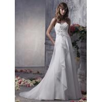 Quality NEW!!! Strapless Aline Low back wedding dress Chiffon Bridal gown #dq5052 for sale