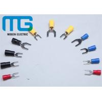 Quality Series SV copper electrical spade Insulated Wire Terminals red blue black yellow TU-JTK for sale
