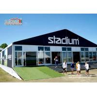 Quality 20x50m White Color Aluminum Second Hand Marquees Exhibition Tents For 1000 Person Glass Sidewalls for sale