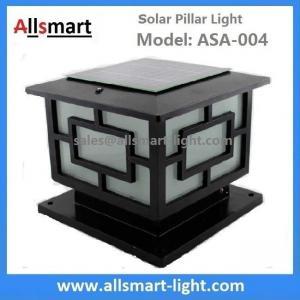 Quality Aluminum Solar Pillar Lights ASA-004 Solar Post Pole Column Lights Solar Gate Lamp for sale