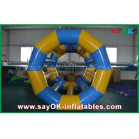Quality Yellow / Blue Funny Rolling Inflatable Water Toys Inflatable Pool Toys For Water Park for sale