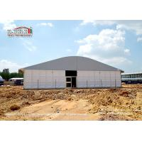 Buy cheap Tear Resistant 20 x 50m Outdoor Party Tents Arcum Shape With Glass Walls from wholesalers