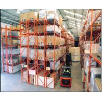 China Food Beverage Industry Project Metal Double Deep Pallet Racking on sale