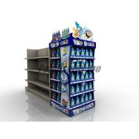 Quality Curved Shelf Sustainable End Cap Shelving For Promoting Laundry Detergent for sale