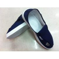 Quality durable static dissipative canvas upper PVC outsole cleanroom ESD shoes for sale