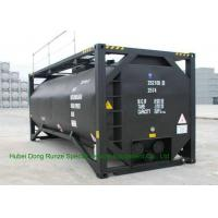 China UN T3 Heating 20 Foot ISO Tank Container For Bitumen / Crude Oil / Low Hazardous Liquids on sale