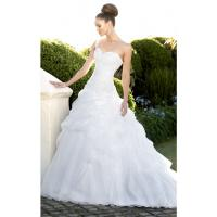 Quality NEW!!! One shoulder white Ball gown wedding dress Organza Bridal gown #w721 for sale