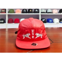 Quality ACE Men Women Kids Adjustable Creative Festive Custom Print Logo Camper Flat Brim Leather Fabric Cap for sale