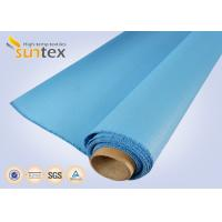 Quality 0.8 Mm Or OEM Blue Fire / Heat Resistant Fiberglass Cloth To Europe 1000 G/Sqm for sale