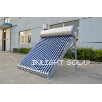 Quality Silver Fluorocarbon PVDF Plate Solar Hot Water Heater Low Pressure Vacuum Tube for sale