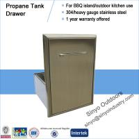 China Roll-Out Propane Tank Storage Bin For Barbecue Island on sale