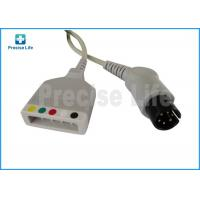 Quality Mindray 0010-30-12257 ECG trunk cable with AHA IEC color code Round 6 pin to 5 leads lead wire for sale