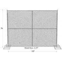 Buy cheap 8'x14' chain link fence panels pipe 41.2mm chain link mesh 57mm x 57mm x 3.00mm hot dipped galvanized  2 oz/ft2 610 g/m from wholesalers
