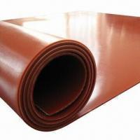 Quality 100% Virgin Silicone Rubber Sheet, Insert 1-ply Fabric,Food-grade,Smell-free,7.5Mpa Tensile Strength for sale