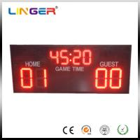 Quality High Brightness Electronic Soccer Scoreboard With Aluminum Cabinet for sale