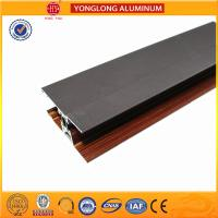 Buy cheap Custom Wood Finished Aluminium Profiles For Windows And Doors from wholesalers