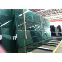 Fire Proof Safety Laminated Glass Curtain Wall / Stairs Safety Glass Panels for sale