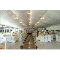 Quality 350 Seater Wedding Reception Marquee Banquet Tent Rental With Clear Glass Walls for sale