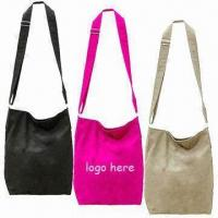 Quality Stylish Canvas Shoulder Bags with Magnetic Button and Mobile Phone Pocket Inside, Comes in Black for sale
